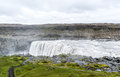 Spectacular Dettifoss waterfall in Iceland in summer Royalty Free Stock Photo
