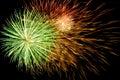 Spectacular fireworks background Royalty Free Stock Photo