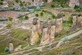 Spectacular landscape in Cappadocia, Turkey