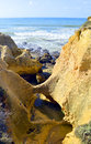 Spectacular rock formations in praia da gale on the algarve coast Stock Photography