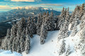 Spectacular snowy winter landscape,Poiana Brasov,Carpathians,Transylvania,Romania,Europe Royalty Free Stock Photo
