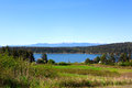 Spectacular water view in Port Townsend  fort Worden State Park Royalty Free Stock Photo