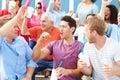 Spectators Cheering At Outdoor...
