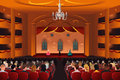 Spectators inside a theater vector illustration of Stock Photo