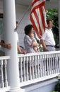 Spectators of July 4th Parade, Rock Hall, Maryland Royalty Free Stock Photo