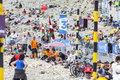 Spectators of Le Tour de France on Mont Ventoux Royalty Free Stock Photo