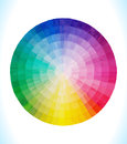 Spectral circle multicolor vector hand drawn watercolor illustration Stock Photos