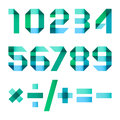 Spectral letters folded of paper  - Arabic numerals Royalty Free Stock Photo