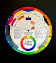 Spectrum Color Wheel Colorful Colors Visual Arts Graphic Design Hue Saturation Tone Gradation Grey Scale Intensity Standard Chart Royalty Free Stock Photo