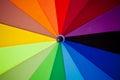 Spectrum colors on umbrella Royalty Free Stock Photo