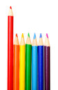 Spectrum colorul pencil Royalty Free Stock Photos