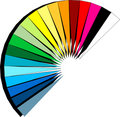 Spectrum fan Royalty Free Stock Photo