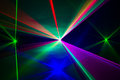 Spectrum of laser beams full in all colors Royalty Free Stock Image