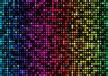Spectrum rainbow, iridescent background of circles of different diameters on black background. Vector with soft glow Royalty Free Stock Photo
