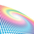 Spectrum spiral circle pattern Royalty Free Stock Photo