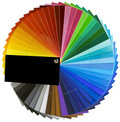 Spectrum wheel scale cutout Royalty Free Stock Photography