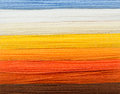 Spectrum of woolen colorful threads Royalty Free Stock Photo