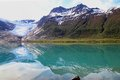 Specular svartisen glacier the lowest of europe Royalty Free Stock Photo