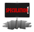 Speculation Danger Warning Sign Hole Bad Guessing Wrong Royalty Free Stock Photo