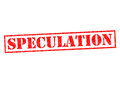 SPECULATION Royalty Free Stock Photo