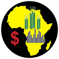 Speculation on wheat trading stock market with agricultural products has negative impact africa Royalty Free Stock Photos