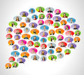 Speech balloon icons Stock Photos