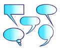 Speech balloons Stock Photography