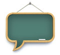 Speech bubble blackboard shaped as d illustration Stock Image