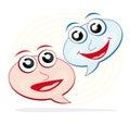 Speech bubble cartoons Stock Photos