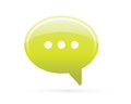 Speech Bubble Chat Detailed Icon Royalty Free Stock Photo