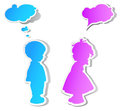Speech bubble children Royalty Free Stock Image