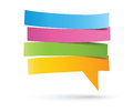 Speech bubble colorful cut paper Stock Images