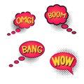 Speech bubble, halftone, bang boom omg, wow