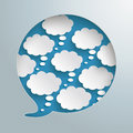 Speech bubble hole thought bubbles silver infographic piad on the grey background eps vector file Stock Photo