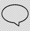 Speech bubble icon isolated on transparent background. Royalty Free Stock Photo