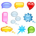 Speech bubble icon set Royalty Free Stock Photos