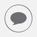 Speech bubble icon vector, solid illustration, pictogram isolated on gray.