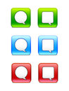 Speech bubble icons a set of button Stock Images