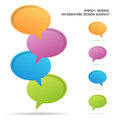 Speech bubble infographic design elements vector illustration of colorful vibrant Royalty Free Stock Photo