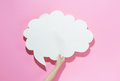 Speech bubble on a pink background Royalty Free Stock Photo