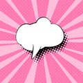 Speech Bubble on Pink Pop Art Background Royalty Free Stock Photo