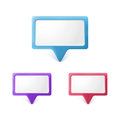 Speech bubble, realistic design elements Royalty Free Stock Photos