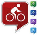 Speech Bubble Set - Bike Royalty Free Stock Photo