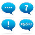 Speech Bubble Set EPS Royalty Free Stock Images