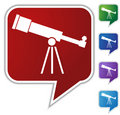 Speech Bubble Set - Telescope Royalty Free Stock Photo