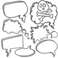 Speech bubble sketch Stock Photo
