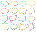 Speech bubble templates on white background Royalty Free Stock Photo