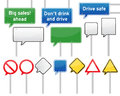 Speech bubble traffic signs set of various isolated Royalty Free Stock Images