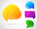 Speech bubble vector illustration of Stock Photography
