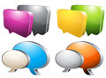 Speech bubble vector illustration of colorful chat boxes Stock Photography